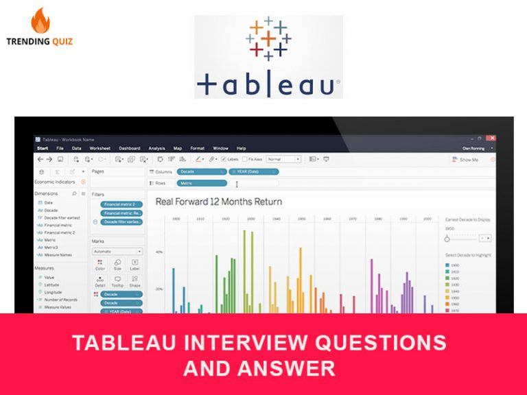 tableau interview questions and answer