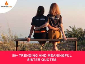 Trending And Meaningful Sister Quotes